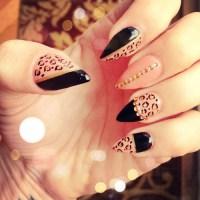 14 Black Pointy Nail Designs Tumblr Images - Pointy Nail ...