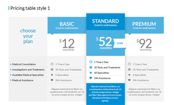 6 Pricing Table PSD Template Images - Pricing Table Templates Free