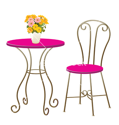 13 Vector Art Table And Chairs Images Vector Table And