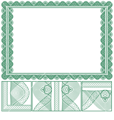 certificate or diploma of completion design template with ornamental