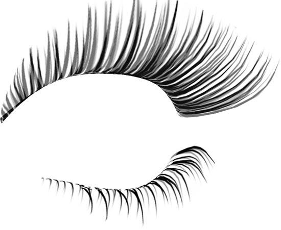 15 Eyelash PSD Photoshop Images - Photoshop Eye Lashes, Eye Lashes