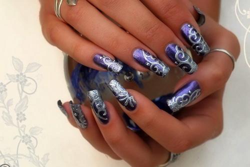 13 Best Purple Nail Art Design Images Purple Nail Art