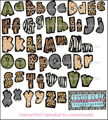 Animal Print Alphabet Letters Printable - Photos Alphabet Collections