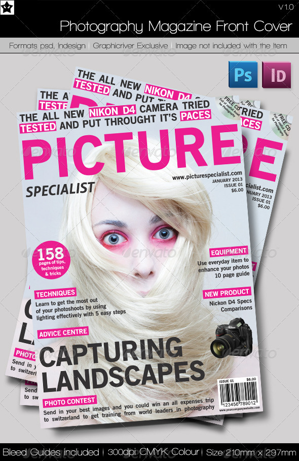 18 Free Psd Magazine Cover Images - Magazine Front Cover Template