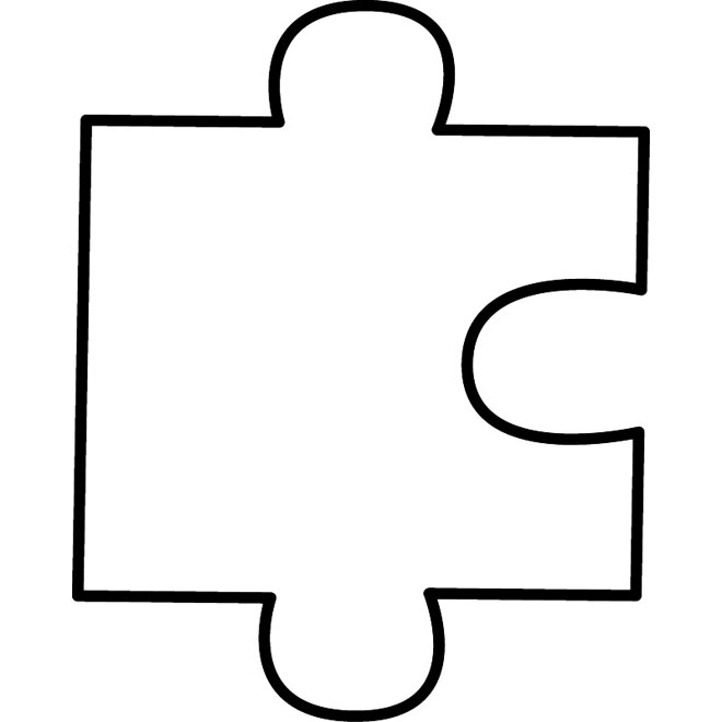 13 Shape Template Vector Printable Puzzle Piece Images - Blank