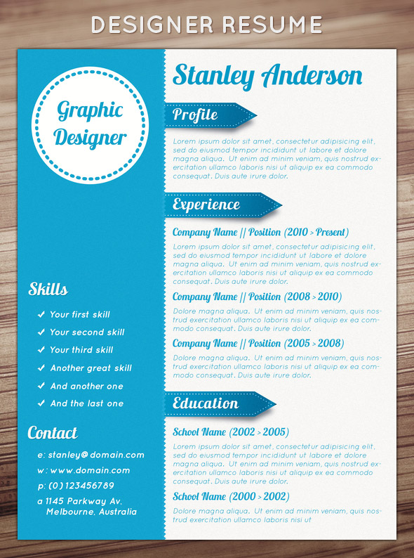 19 Creative Design Templates Images - Free Creative Resume Design
