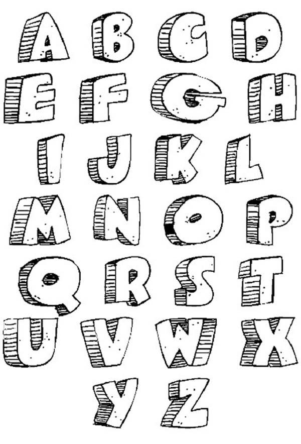 12 Fonts Alphabet Letters Images - Cool Font Styles Alphabet