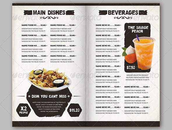 menu template psd - 28 images - 13 food menu psd images mexican - food menu template