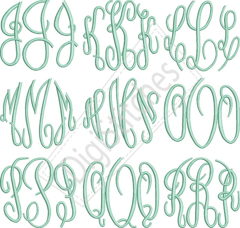 8 most popular monogram fonts images