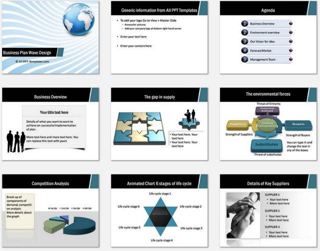 Business Plan Template Ppt Premium Business Plan Powerpoint Template