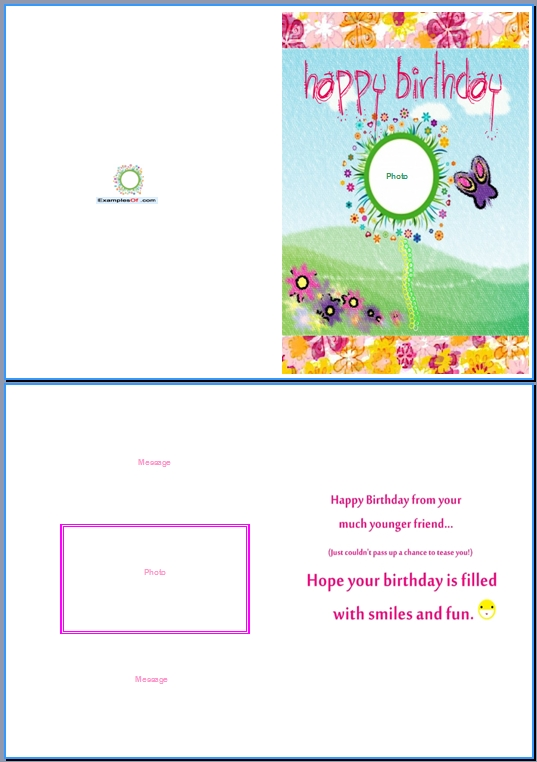 19 Birthday Card Templates For Word Images - Free Birthday Card