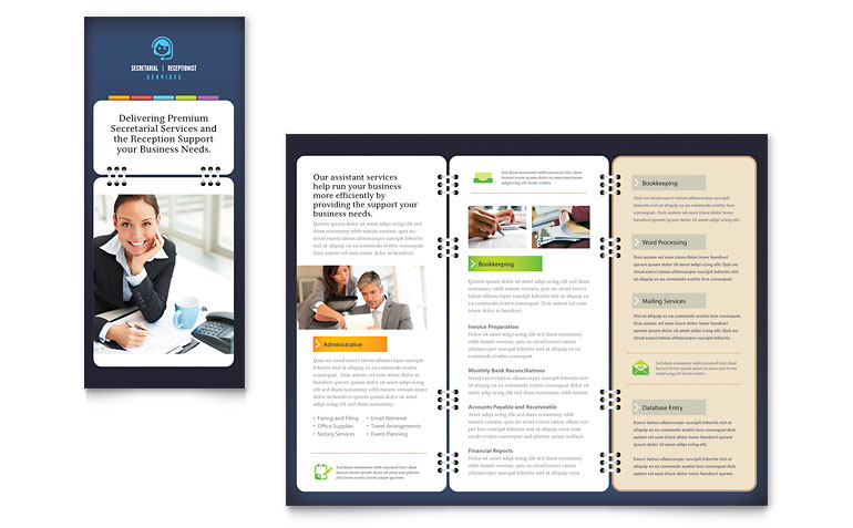 13 Microsoft Word Trifold Template Images - Blank Tri-Fold Brochure