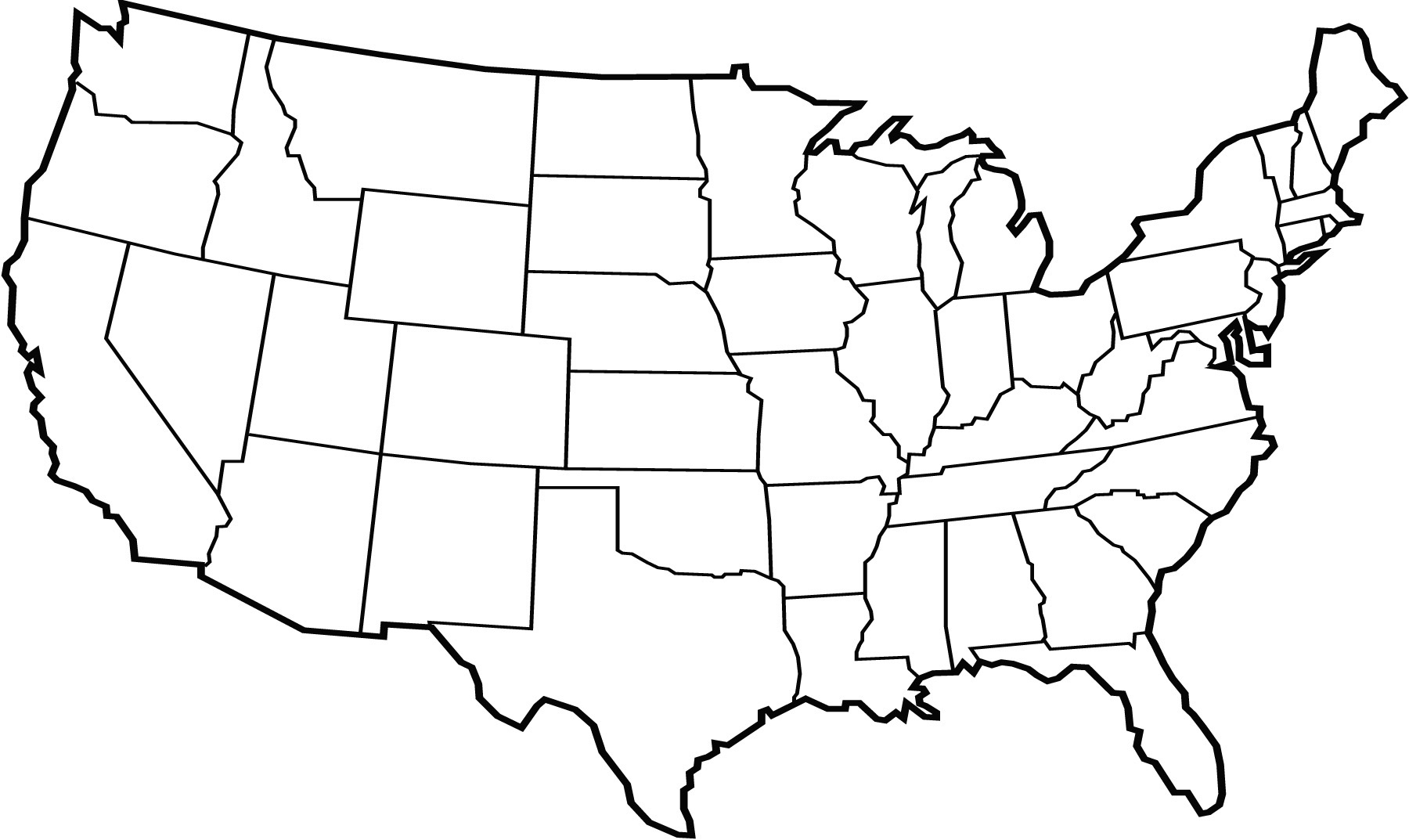 List Of States And Territories Of The United States Wikipedia - Continental us map