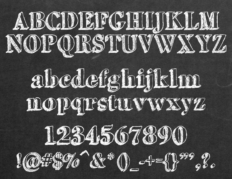 chalkboard font - Pinarkubkireklamowe