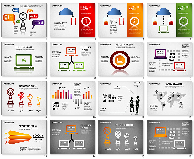 16 Free Infographic Templates For PowerPoint Images - Heart Month