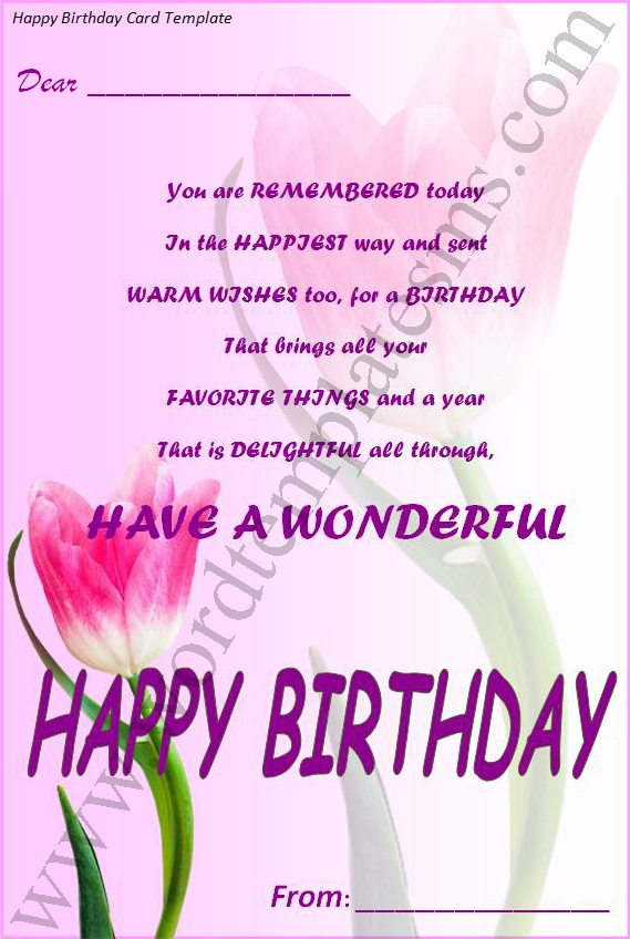 happy birthday card template word - Goalgoodwinmetals - birthday wishes templates word