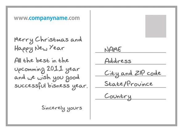 Postcard Format Template - Resumepages