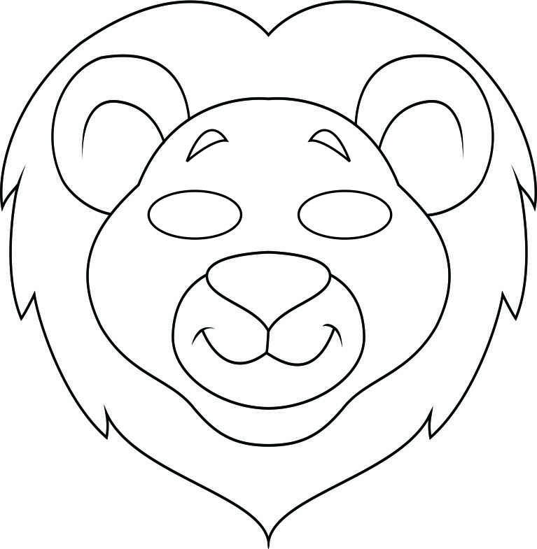 14 Animal Masks Templates Images - Jungle Animal Mask Templates