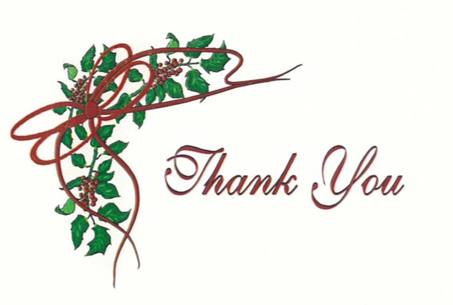 11 Holiday Thank You Graphic Images - Christmas Thank You Clip Art