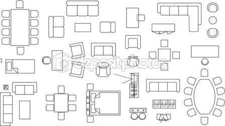 17 Tables And Chairs Vector Plan View Images Free Floor
