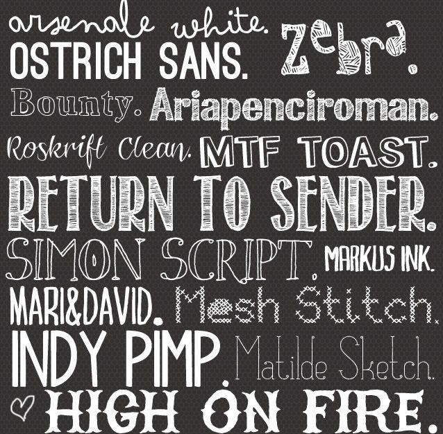 11 Fancy Free Chalkboard Font Images - Favorite Chalkboard Fonts