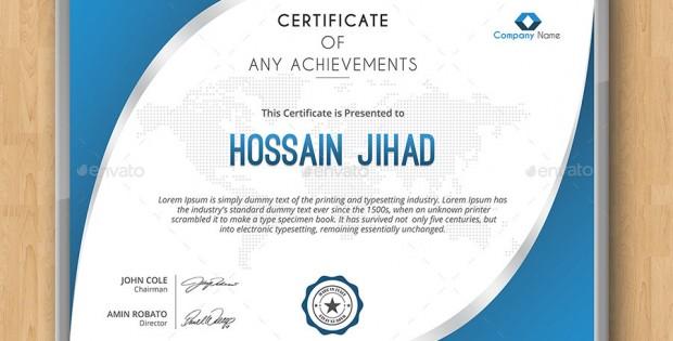 8 Modern Certificate Templates PSD Images - Modern Certificate