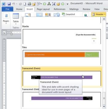 18 Word Header Designs Images - Word Document Header Designs