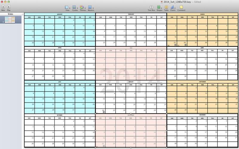 Keynote Calendar Template Gallery - Template Design Free Download - calendar template for mac