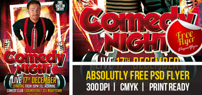 Comedy Show Flyer Template Expand Comedy Show Premium Flyer Psd