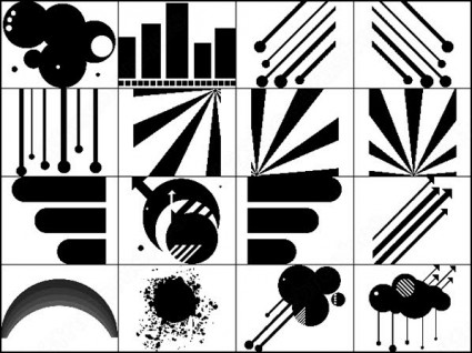 12 Vector Brushes For Photoshop Images - Photoshop Vector Brushes