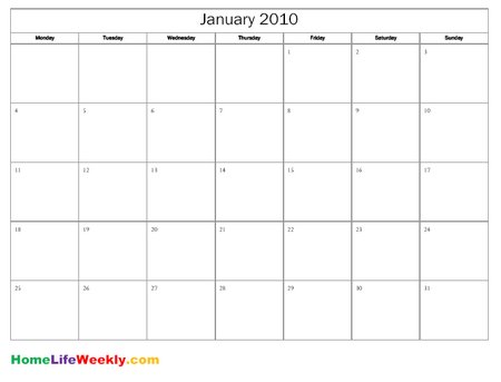 16 Simple Blank Calendar Template Images - Full Size Blank Printable
