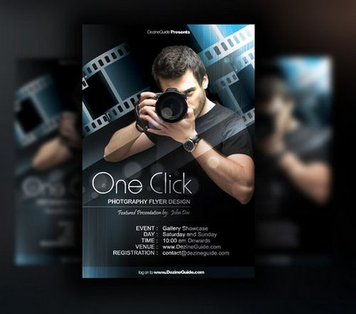 15 Photography Flyer Free PSD Images - Photography Flyers Templates