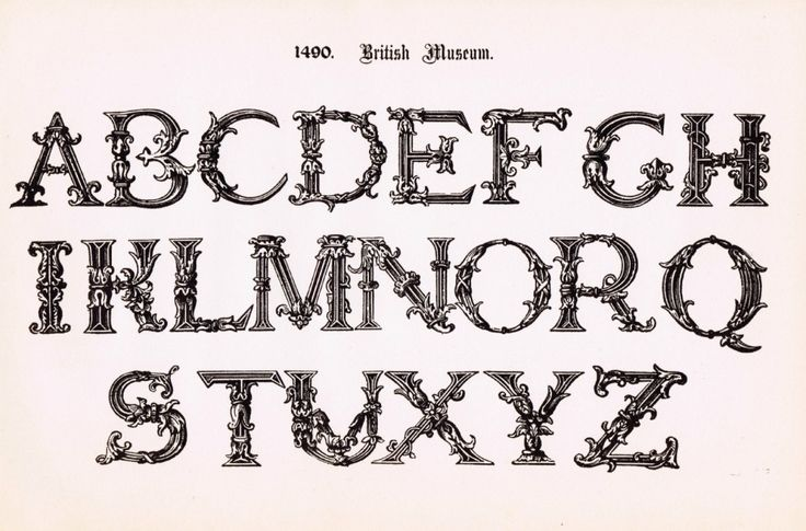 13 Printable Fancy Letter Fonts Images - Fancy Alphabet Letter