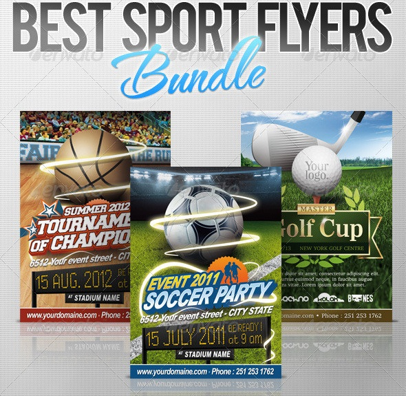 13 Free PSD Flyer Templates Sports Images - Football Flyers - free sports flyer templates