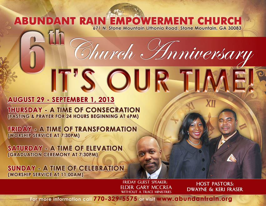 14 Church Anniversary Flyer Templates Free Images - Church
