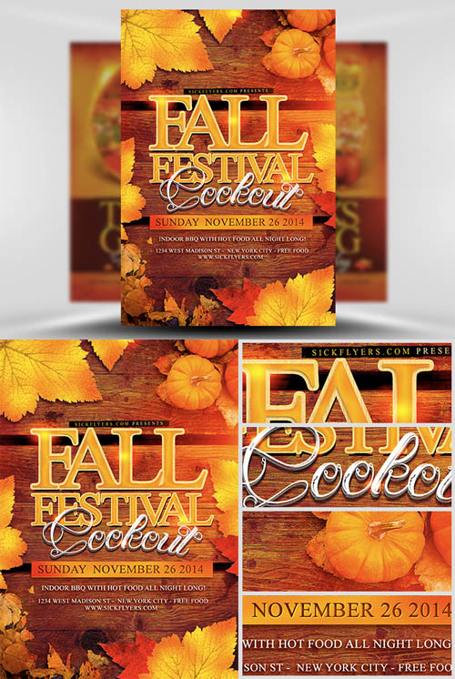 19 Free Fall Festival Flyer Template PSD Images - Fall Festival