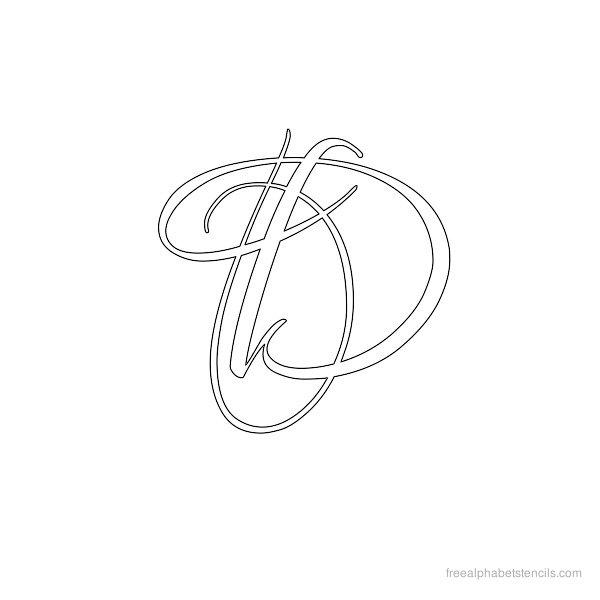 Calligraphy Designs Templates Alphabet script inch stencil