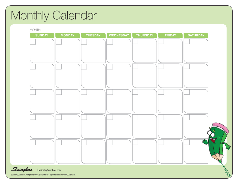 Sample Weekly Calendar - vheo