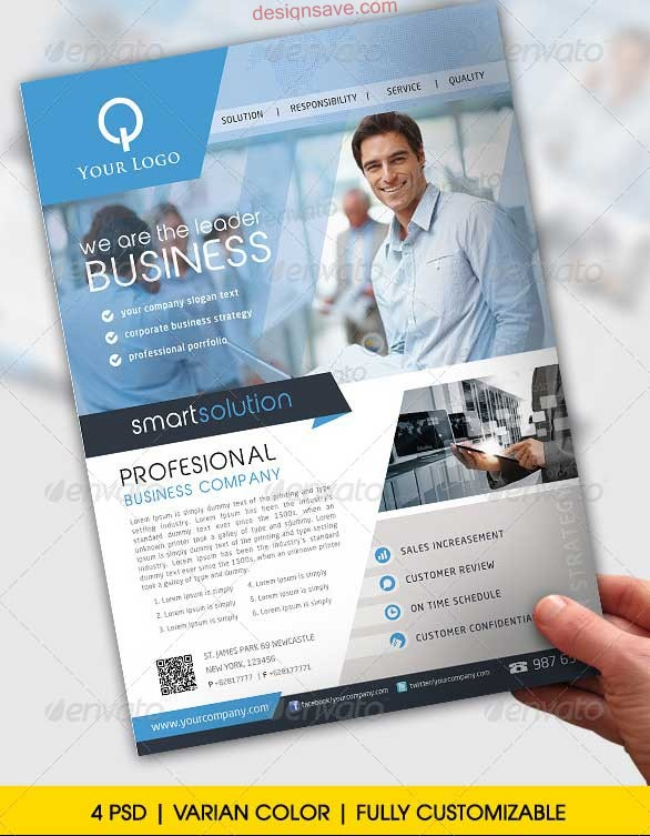 16 Business Flyers PSD Images - Free Business Flyer Templates