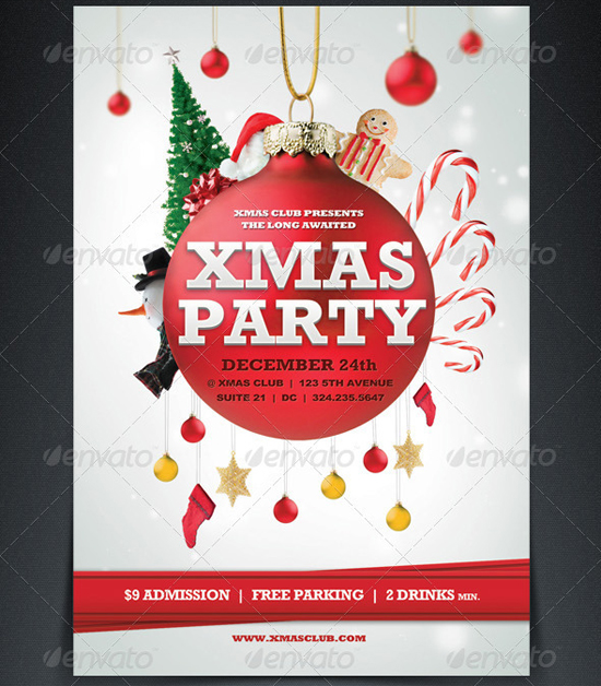 18 Free Christmas Flyer Design Templates Images - Printable