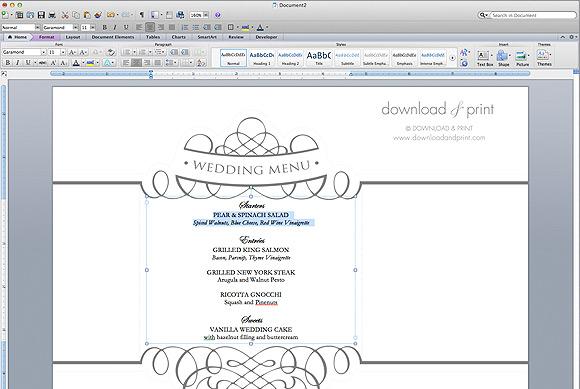 14 Menu Templates Free Download Images - Restaurant Menu Templates - free menu templates for microsoft word
