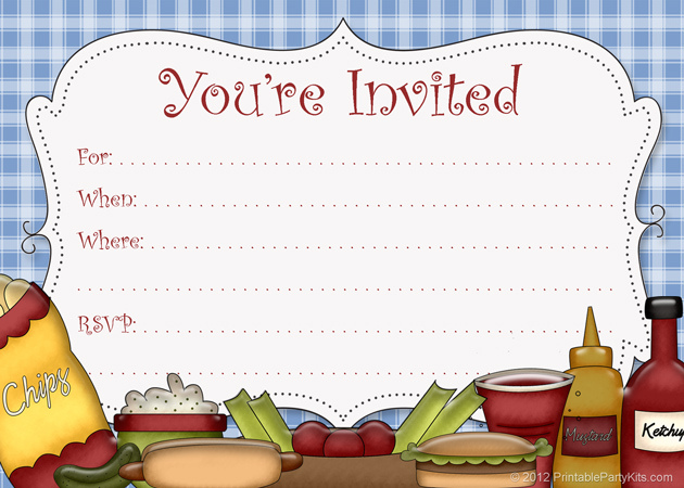 15 BBQ Invitations Free Printable Template Images - Free Printable - bbq invitation template