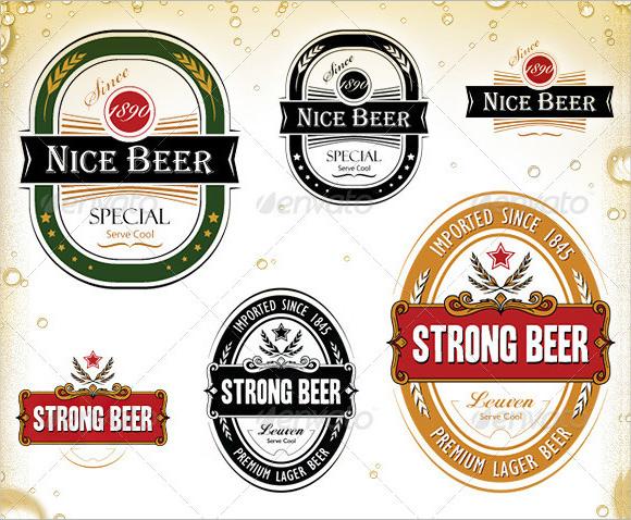 15 Beer Label PSD Images - Beer Label Template Photoshop, Beer Label - abel templates psd