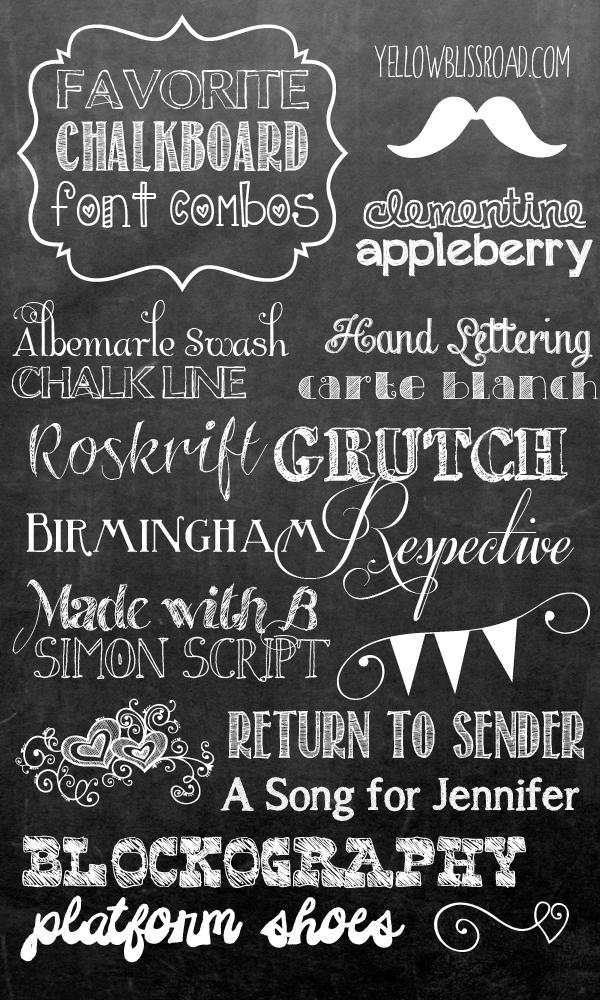 7 Popular Fonts Signs Images - Favorite Chalkboard Fonts, Best Sign