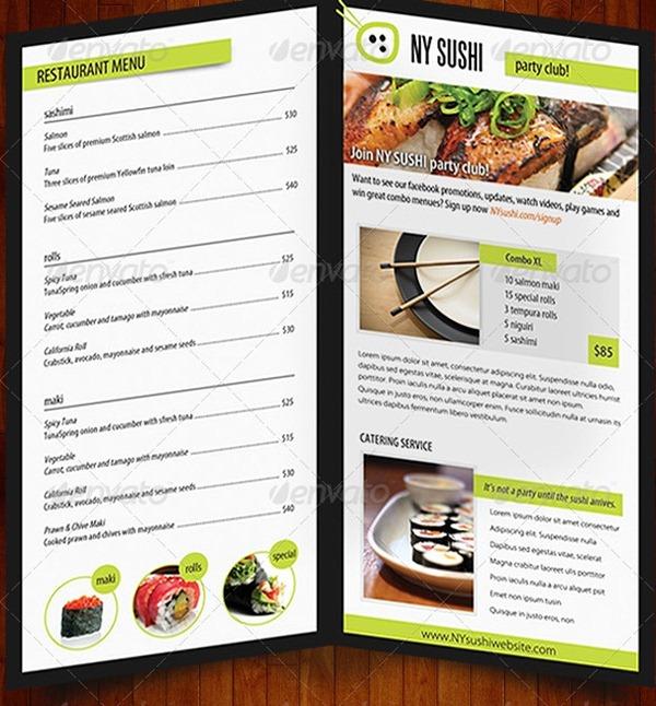 14 Food Menu Template Images - Restaurant Food Menu Templates, Food