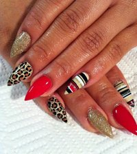 12 Cute Pointy Nail Designs Images - Pointy Nail Designs ...