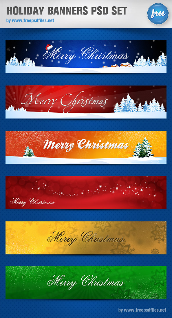 11 Christmas Banner PSD Images - Free Psd Banner Templates