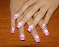 15 Pink And White Designs Images - Pink and White Nails ...