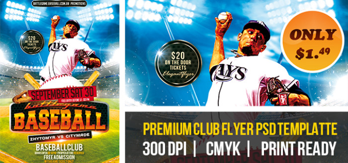 12 Baseball Flyer Template PSD Images - Baseball Flyer Template