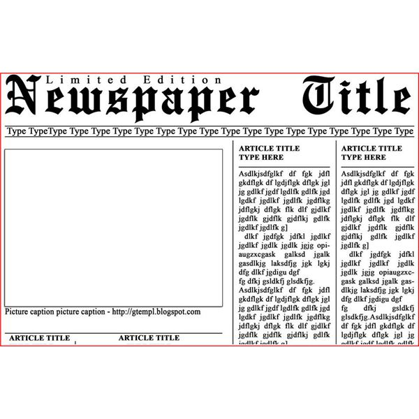 newspaper article template for microsoft word